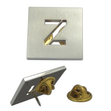 "Custom Silver Hollow ""Z"" Badge"