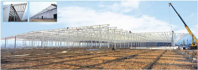 Steel structure roof for DAYE Motorcycle Factory pic two