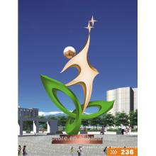Moderne große berühmte Kunst Abstrakte Edelstahl-Skulptur für Gartendekoration