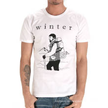 Top Quality Custom Cotton Fashion Round Neck White Cheap Men T Shirt