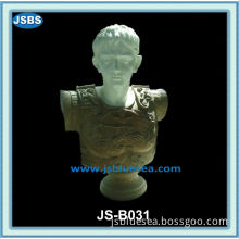 Hand Carved Stone Young Man Bust Sculpture
