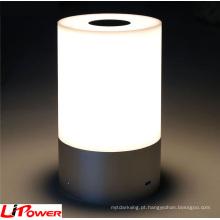 Lâmpada de mesa colorida moderna do diodo emissor de luz do inclinação para ao ar livre