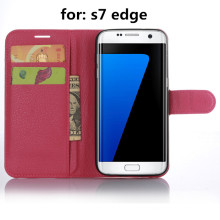 PU Cell Phone Wallet Case for Samsung S7 Edge