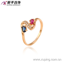 13015 Fashion Hot-Selling Nice 18k Gold-Plated Crystal Jewelry Ring for Lady or Girl