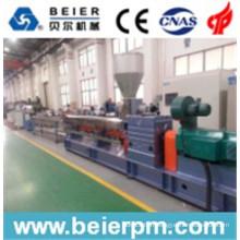 Extrudeuse à double vis parallèle en plastique Masterbatch Brosse froide de pelletisation / compoundage / recyclage / machine d'extrusion de granulation