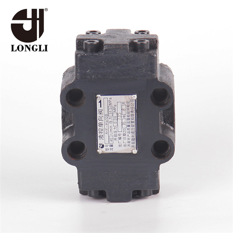 Hydraulic Control One Direction Non Reverse Valve