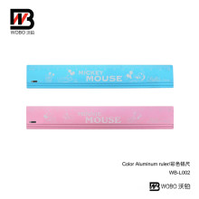 Office Stationery Color Cartoon Aluminum Ruler for Student Measuring
