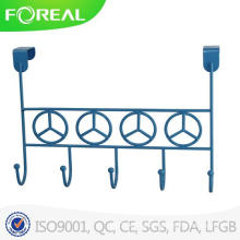 Powder Coating Metal Wire Over Door 5 Hook Blue