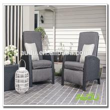 Audu 3 Stück Schwarzer Komfort Wicker Verstellbarer Stuhl