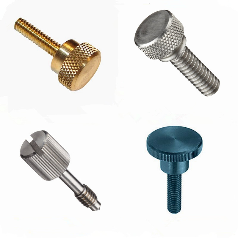Stainless Steel Brass Big Head Knurled Thumb Screw M3 M4 M5 M6