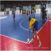 Plancher de sport de futsal modulaire suspendu