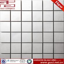 Telha de mosaico de aço inoxidável padrão de superfície para sala de TV fundo parede