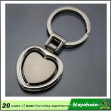 Porte-clés fait sur commande de coeur de logo fait sur commande