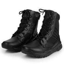 Hot Sell Black Leather Police Combat Boots Military Tactical Boots (2010)