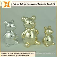 Various Style and Colorful Ceramic Bear for Home Decoration