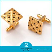 Золотые серебряные изготовленные на заказ запонки (SH-BC0002)