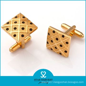 2016 New Designs Quality Brass Crystal Cufflinks (D-0011)