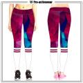 Polainas ajustadas del Dri de la aptitud de las mujeres del OEM, pantalones del yoga del gimnasio del entrenamiento