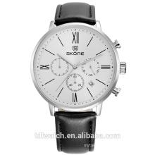 2017 hot sale multifunction quartz men's watch with alloy bezel