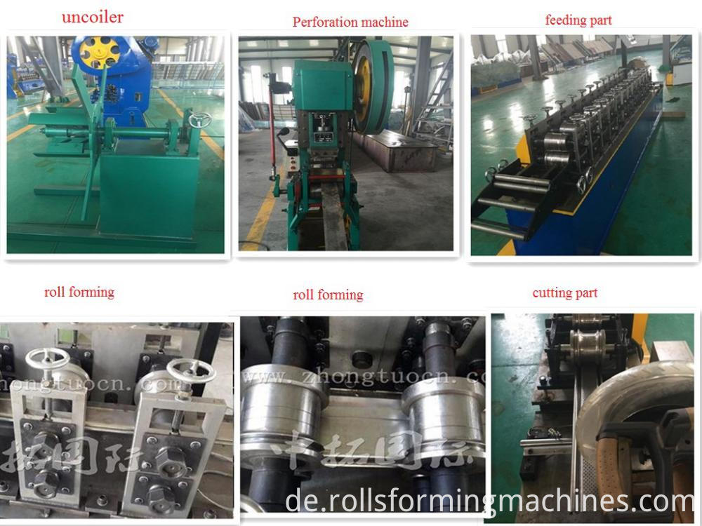 Metal Shutter Slat Roll Forming Machine Steel Garage Door Machine