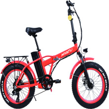 Silver fish snow electric bike red