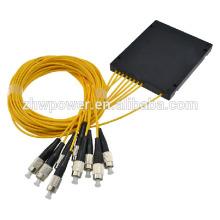 Singlemode 1x 8 ST cassette fibra óptica divisor / plc 1x 8 fibra óptica divisor