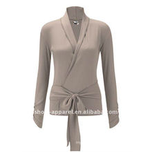 2014 Customized long sleeve yoga wear top for women