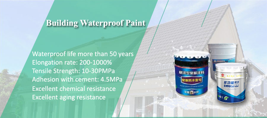 Waterproofing Paint for Roof High tensile strength, high elongation, good elasticity, good weather resistance, suitable for community roofs, high standard building Waterproofing Membrane for Roof Deck, villas Waterproofing Paint for Roof Decks, etc. Anti-leakage, environmental protection, non-toxic and harmless waterproof coating for the human body.