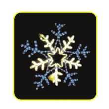 Lumière au motif de flocon de neige LED