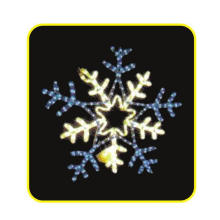 LED Snowflake Motif Light