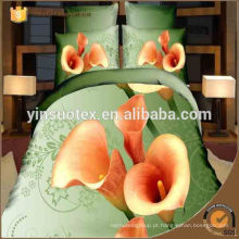 Sumptuoso conjunto de cama flor 3d, preço por atacado conjunto de cama