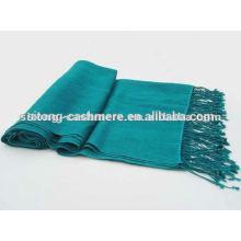 100% pur cachemire pashmina tricot tricot tricoté impression écharpe dame