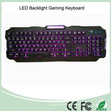 Tres colores ajustables de la contraluz USB atado con alambre juego LED Teclado (KB-1901EL)