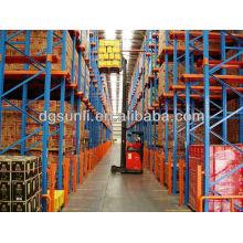 Logística de equipamentos pesados de armazenamento duplo Racking pálete profunda