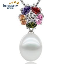 925 Sterling Silver Pearl Pendant Freshwater Pearl Pendant AAA Natural Pearl Pendants