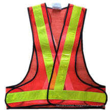 Safety Vest with PVC Tape and Mesh Fabric