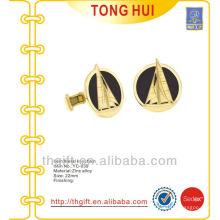 Custom vela / junk / yate esmalte gemelos para dorado
