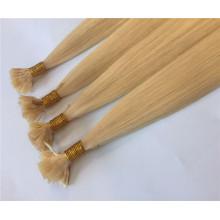 Premium-Qualität doppelt gezogenes reines Menschenhaar flache Spitze Haarverlängerung für Frauen