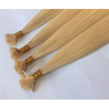 Premium Quality Double Drawn Virgin Human Hair Flat Tip Hair Extension for Women