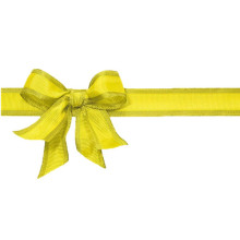 Pre-made self-adhesive bow with ribbon chocolate gift