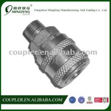 Accouplement rapide en acier pneumatique pour l'outil pneumatique