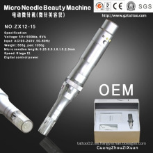 Dermapen de punción de piel con microagujas eléctrico automático (ZX12-15)