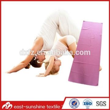 Toalla de yoga de microfibra con cualquier logotipo personalizado, toalla de yoga hermosa, toalla de gimnasio con logo