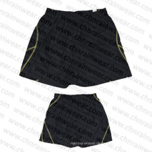 Männer schwarze Farbe Sport Shorts / Board Shorts mit Polyester Stoff