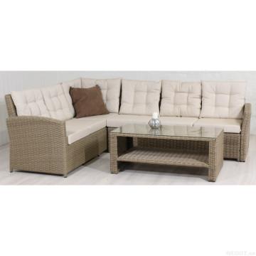 Jardín composable mimbre muebles Lounge al aire libre sofá de la rota