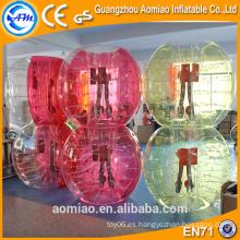 Humano burbuja de fútbol / fútbol para las ventas, la burbuja del cuerpo parachoques bola 2016