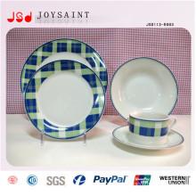 Placas de jantar por atacado do restaurante gravado, placas baratas do jantar do branco para o restaurante, barato