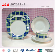 Vente en gros de plats de dîner au restaurant en relief, assiettes à table blanc bon marché pour restaurant, bon marché