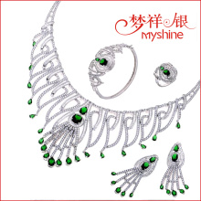 Manufacture women's cz jewellery 925 sterling silver jewelry wholesale