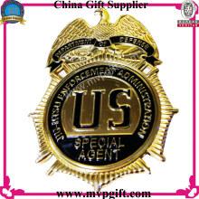 Emblema da polícia da alta qualidade e Pin com ordem pequena aceitável
